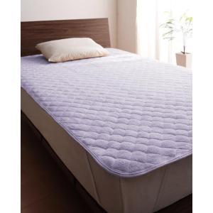 タオル地 敷きパッド の単品(敷布団用 マットレス用) シングル 色-ラベンダー /綿100%パイル