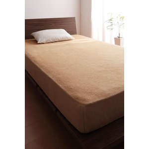 タオル地 ベッド用 ボックスシーツ の単品(マットレス用カバー) シングル 色-ナチュラルベージュ ...