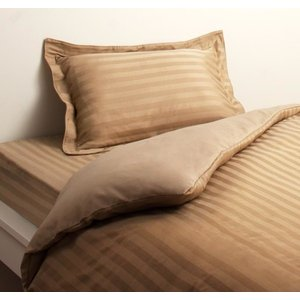 高級ホテルスタイル ベッド用 ボックスシーツ の単品(マットレス用カバー) シングル 色-サンドベー...