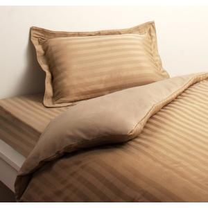 高級ホテルスタイル ベッド用 ボックスシーツ の単品(マットレス用カバー) セミダブル 色-サンドベ...