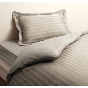 高級ホテルスタイル ベッド用 ボックスシーツ の単品(マットレス用カバー) セミダブル 色-シルバー...