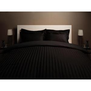 ホテルスタイル 布団カバーセット ベッドタイプ3点(枕カバー + 掛け布団カバー + ボックスシーツ) セミダブル 色-サイレントブラックの写真