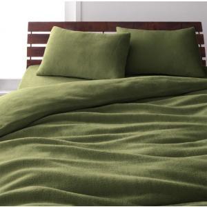 マイクロファイバー ピローケース(枕カバー)の同色2枚セット 43x63cm 色-オリーブグリーン