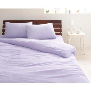 タオル地 ベッド用 ボックスシーツ(マットレス用カバー)の単品 ファミリー 色-ラベンダー