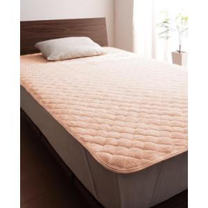 タオル地 敷きパッド の単品(敷布団用 マットレス用) ワイドキング 色-さくら /綿100%パイル