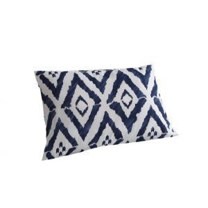 ピローケース(枕カバー) の単品1枚 43x63cm 色-幾何柄ネイビー
