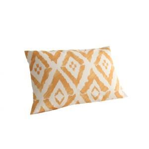 ピローケース(枕カバー) の単品1枚 43x63cm 色-幾何柄クリームイエロー