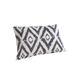 ピローケース(枕カバー) の単品1枚 43x63cm 色-幾何柄グレー