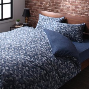 ベッド用 ボックスシーツ の単品(マットレス用カバー) ダブル 色-無地ネイビー