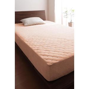 タオル地 敷きパッド一体型ボックスシーツ の単品(マットレス用) セミダブル ショート丈 色-さくら...