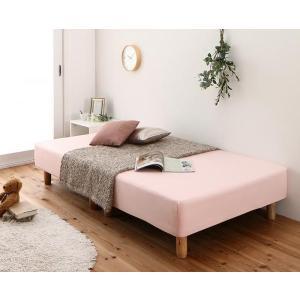 ベッド用 ボックスシーツ の単品(マットレス用カバー) セミダブル ショート丈 色-さくら__●出荷...
