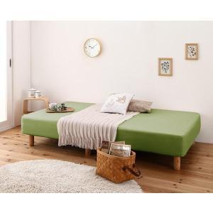 ベッド用 ボックスシーツ の同色2枚セット セミダブル ショート丈 色-オリーブグリーン__●出荷日...