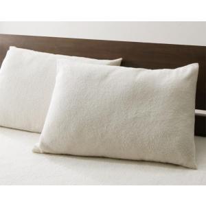 今治タオル ピローケース(枕カバー) の単品1枚 43x63cm 色-アイボリー /国産 日本製 綿...