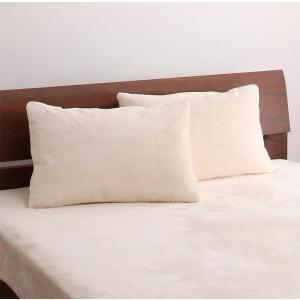 上質マイクロファイバー 枕カバー(ピローケース)の単品1枚 43x63cm 色-バニラホワイト /洗...