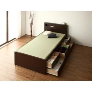 畳ベッド シングル ブラウン(フレームのみ マットレスなし)組立設置付き 国産畳 ベッドガード付き ...