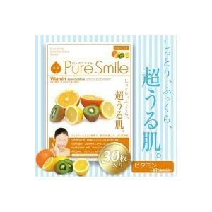 Pure_Smile(ピュアスマイル) エッセンス・フェイスマスク ビタミン 1シート入り×30セット_/sgktb-1074174|kaitekibituuhan