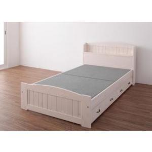 収納付きベッド シングル ショート丈 (ベッドフレームのみ マットレスなし) すのこ /宮付き 引き...
