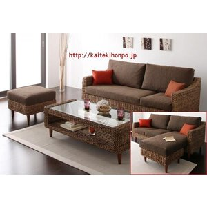 Paramaパラマ/コーナーカウチソファー+W120テーブルセットNAアジアン家具|kaitekihonpo2
