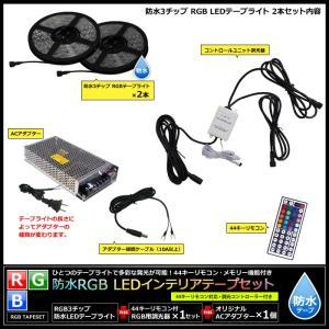 【300cm×2本 100Vセット】 防水RGBインテリアテープライト(RoHS対応) +調光器+アダプター kaito-shop2011 03