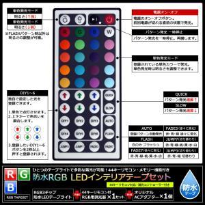 【300cm×2本 100Vセット】 防水RGBインテリアテープライト(RoHS対応) +調光器+アダプター kaito-shop2011 07