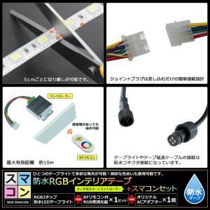 【スマコン200cm×2本セット】 防水RGBテープライト(RoHS対応) +RF調光器+対応アダプター付き|kaito-shop2011|04