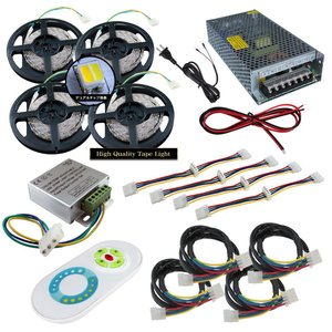 【デュアル350cm×4本セット】 非防水2色テープライト+RF調光器+対応アダプター付き|kaito-shop2011