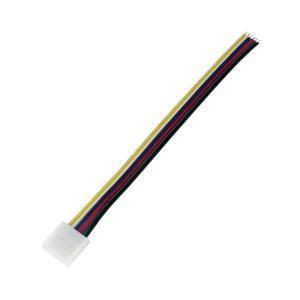 Kaito5562(2個) 12mm 非防水 6端子 LEDテープライト用 接続ケーブル+コネクタ 片端子 14cm|kaito-shop2011