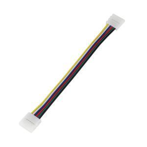 Kaito5563(2個) 12mm 非防水 6端子 LEDテープライト用 接続ケーブル+コネクタ 両端子 14cm|kaito-shop2011
