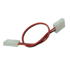 [半田不要でテープ接続] 8mm 非防水 単色テープライト用 接続ケーブル+コネクタ 両端子 [10個]|kaito-shop2011