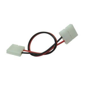[半田不要でテープ接続] 10mm 非防水 単色テープライト用 接続ケーブル+コネクタ 両端子 [10個]|kaito-shop2011