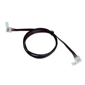 Kaito5577(50個) 10mm 非防水 RGBテープライト用 接続ケーブル+コネクタ 両端子 1M|kaito-shop2011