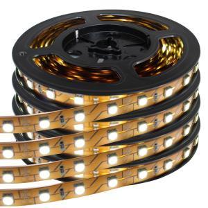 Kaito60003(4本入り) 超安 非防水LEDテープライト 白色 3チップ 12V 50cm [ブラウンベース] 片端子|kaito-shop2011