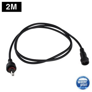 6854(1個) 防水/IP65 DCコネクタケーブル (5.5-2.1mm対応) 延長ケーブル 2m (LEDテープライト用電源コード/Webカメラ/ネットワークカメラ/防犯カメラ 対応)|kaito-shop2011