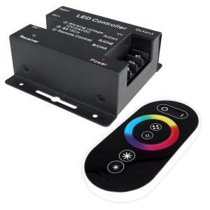 Kaito6915(1個) RGBコントロールユニット 8Ax3 【タッチセンサ方式RFリモコン付】 Black 12V-24V|kaito-shop2011