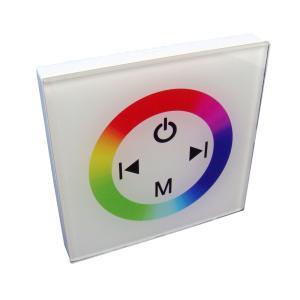 [RGBテープライトの調光に] 4Ax3 タッチパネルRGBコントロールユニット【壁固定タイプ/白ボディ】4A×3 TM08 [1個] kaito-shop2011