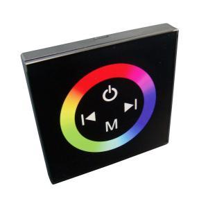 [RGBテープライトの調光に] 4Ax3 タッチパネルRGBコントロールユニット【壁固定タイプ/黒ボディ】4A×3 TM08 [1個] kaito-shop2011