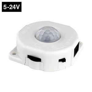 LED用 人感センサースイッチ [昼/夜モード切替スイッチ付き] 5V-24V LP-8025 白【7721】|kaito-shop2011