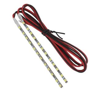 8483(20本) 非防水LEDバーライト[2835] 12V 単体 ハードタイプ 10cm 白色 [ケーブル50cm]|kaito-shop2011