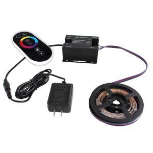 [91275-set] 流れる 側面発光 RGBテープライト (30cm) 非防水 12V 片端子 [コントローラセット/白ベース]|kaito-shop2011
