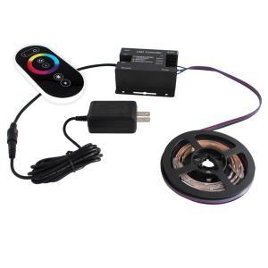 [91280-set] 流れる 側面発光 RGBテープライト (60cm) 非防水 12V 片端子 [コントローラセット/白ベース]|kaito-shop2011