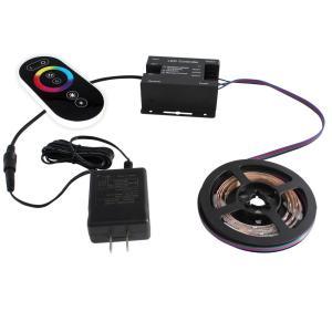 [91281-set] 流れる 側面発光 RGBテープライト (90cm) 非防水 12V 片端子 [コントローラセット/白ベース]|kaito-shop2011