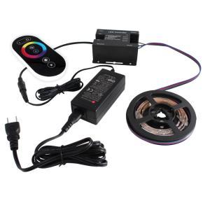 [91284-set] 流れる 側面発光 RGBテープライト (180cm) 非防水 12V 片端子 [コントローラセット/白ベース]|kaito-shop2011