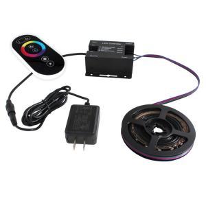 [91675-set] 流れる 側面発光 RGBテープライト (30cm) 非防水 12V 片端子 [コントローラセット/黒ベース]|kaito-shop2011