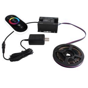 [91680-set] 流れる 側面発光 RGBテープライト (60cm) 非防水 12V 片端子 [コントローラセット/黒ベース]|kaito-shop2011