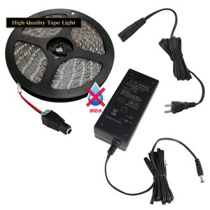 【アダプターセット】HQ 非防水1チップ LEDテープライト 400cm+対応ACアダプター|kaito-shop2011