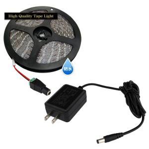 【アダプターセット】HQ 防水3チップ LEDテープライト 100cm+対応ACアダプター|kaito-shop2011