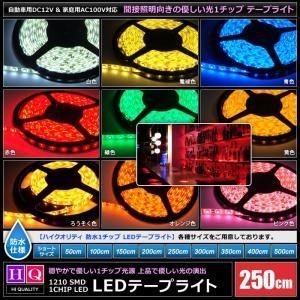 【ハイクオリティ】防水 LEDインテリアテープライト 1チップ 単体 (100V/12V兼用) 250cm|kaito-shop2011