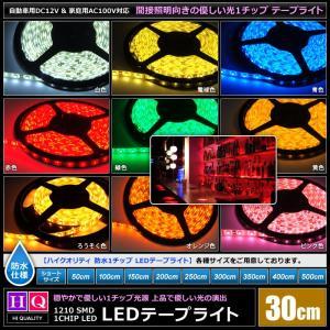【ハイクオリティ】防水 LEDインテリアテープライト 1チップ 単体 (100V/12V兼用) 30cm|kaito-shop2011