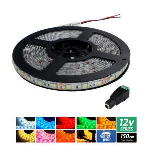 【ハイクオリティ】防水 LEDインテリアテープライト 3チップ 単体 (100V/12V兼用) 150cm|kaito-shop2011