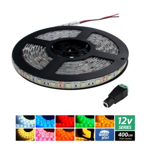 【ハイクオリティ】防水 LEDインテリアテープライト 3チップ 単体 (100V/12V兼用) 400cm|kaito-shop2011